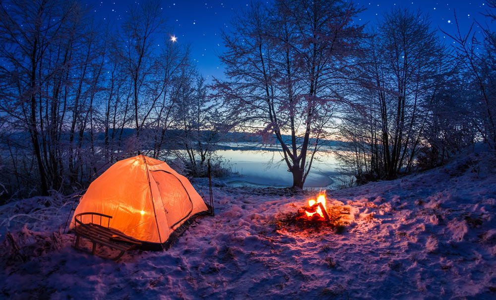 Camping on new year's eve