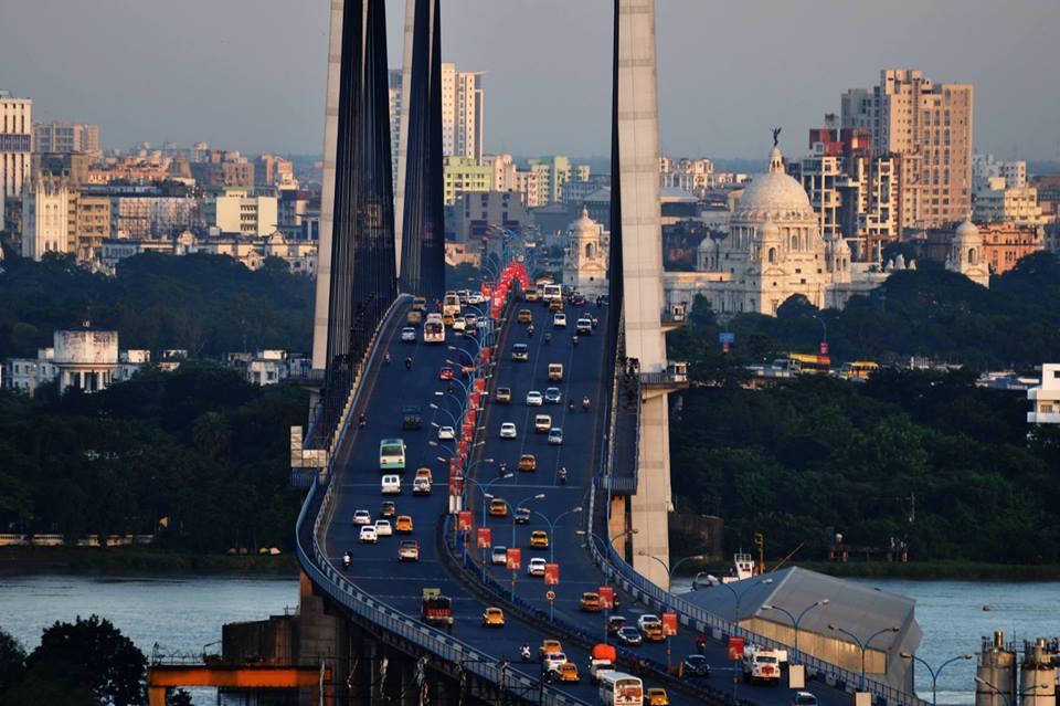 Kolkata city skyline